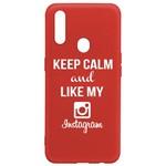 Чехол-накладка Krutoff Silicone Case Instagram для OPPO A31 красный