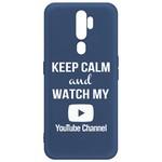 Чехол-накладка Krutoff Silicone Case YouTube для OPPO A5 2020/ A9 2020 синий