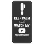 Чехол-накладка Krutoff Silicone Case YouTube для OPPO A5 2020/ A9 2020 черный