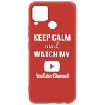 Чехол-накладка Krutoff Silicone Case YouTube для Realme C15 красный