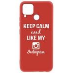 Чехол-накладка Krutoff Silicone Case Instagram для Realme C15 красный