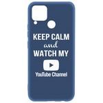 Чехол-накладка Krutoff Silicone Case YouTube для Realme C15 синий