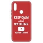 Чехол-накладка Krutoff Silicone Case YouTube для Xiaomi Redmi 7 (красный)