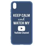 Чехол-накладка Krutoff Silicone Case YouTube для Xiaomi Redmi 7A (синий)