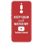 Чехол-накладка Krutoff Silicone Case YouTube для Xiaomi Redmi 8 (красный)