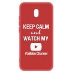 Чехол-накладка Krutoff Silicone Case YouTube для Xiaomi Redmi 8A (красный)
