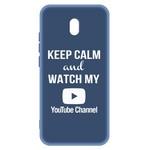 Чехол-накладка Krutoff Silicone Case YouTube для Xiaomi Redmi 8A (синий)
