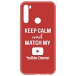 Чехол-накладка Krutoff Silicone Case YouTube для Xiaomi Redmi Note 8 (красный)