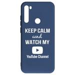 Чехол-накладка Krutoff Silicone Case YouTube для Xiaomi Redmi Note 8T (синий)