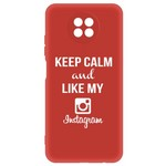 Чехол-накладка Krutoff Silicone Case Instagram для Xiaomi Redmi Note 9T (красный)