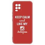 Чехол-накладка Krutoff Silicone Case Instagram для Xiaomi Mi 10 Lite (красный)