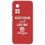 Чехол-накладка Krutoff Silicone Case Instagram для Xiaomi Mi 10T/ Mi 10T Pro (красный)