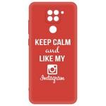 Чехол-накладка Krutoff Silicone Case Instagram для Xiaomi Redmi Note 9 красный