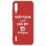 Чехол-накладка Krutoff Silicone Case Instagram для Xiaomi Mi A3 (красный)