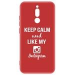Чехол-накладка Krutoff Silicone Case Instagram для Xiaomi Redmi 8 (красный)