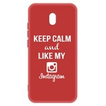 Чехол-накладка Krutoff Silicone Case Instagram для Xiaomi Redmi 8A (красный)