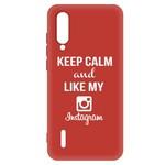 Чехол-накладка Krutoff Silicone Case Instagram для Xiaomi Mi 9 Lite (красный)