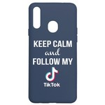 Чехол-накладка Krutoff Silicone Case TikTok для Samsung Galaxy A20s (A207) синий