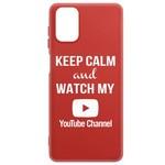 Чехол-накладка Krutoff Silicone Case YouTube для Samsung Galaxy M31s (M317) красный