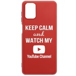 Чехол-накладка Krutoff Silicone Case YouTube для Samsung Galaxy M51 (M515) красный