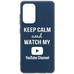 Чехол-накладка Krutoff Silicone Case YouTube для Samsung Galaxy A52 (A525) синий
