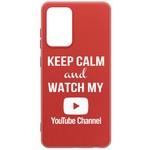 Чехол-накладка Krutoff Silicone Case YouTube для Samsung Galaxy A72 (A725) красный