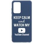 Чехол-накладка Krutoff Silicone Case YouTube для Samsung Galaxy A72 (A725) синий