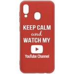 Чехол-накладка Krutoff Silicone Case YouTube для Samsung Galaxy A20/ A30 (A205/A305) красный