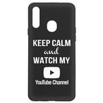 Чехол-накладка Krutoff Silicone Case YouTube для Samsung Galaxy A20s (A207) черный