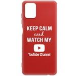 Чехол-накладка Krutoff Silicone Case YouTube для Samsung Galaxy A51 (A515) красный