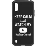 Чехол-накладка Krutoff Silicone Case YouTube для Samsung Galaxy A01/M01 (A015/M015) черный