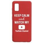 Чехол-накладка Krutoff Silicone Case YouTube для Samsung Galaxy A41 (A415) красный
