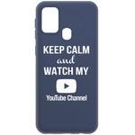 Чехол-накладка Krutoff Silicone Case YouTube для Samsung Galaxy M31 (M315) синий