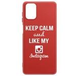 Чехол-накладка Krutoff Silicone Case Instagram для Samsung Galaxy M31s (M317) красный