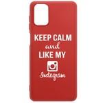 Чехол-накладка Krutoff Silicone Case Instagram для Samsung Galaxy M51 (M515) красный