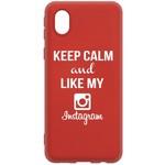 Чехол-накладка Krutoff Silicone Case Instagram для Samsung Galaxy A01 Core (A013) красный