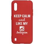 Чехол-накладка Krutoff Silicone Case Instagram для Samsung Galaxy A01/M01 (A015/M015) красный