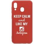 Чехол-накладка Krutoff Silicone Case Instagram для Samsung Galaxy A20/A30 (A205/A305) красный