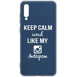 Чехол-накладка Krutoff Silicone Case Instagram для Samsung Galaxy A70 (A705) синий