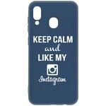 Чехол-накладка Krutoff Silicone Case Instagram для Samsung Galaxy A20/A30 (A205/A305) синий
