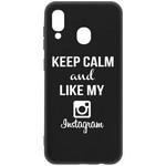 Чехол-накладка Krutoff Silicone Case Instagram для Samsung Galaxy A20/A30 (A205/A305) черный