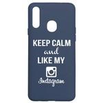 Чехол-накладка Krutoff Silicone Case Instagram для Samsung Galaxy A20s (A207) синий