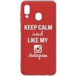 Чехол-накладка Krutoff Silicone Case Instagram для Samsung Galaxy A40 (A405) красный