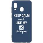 Чехол-накладка Krutoff Silicone Case Instagram для Samsung Galaxy A40 (A405) синий