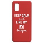 Чехол-накладка Krutoff Silicone Case Instagram для Samsung Galaxy A41 (A415) красный
