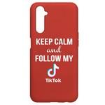 Чехол-накладка Krutoff Silicone Case TikTok для Realme 6 Pro красный