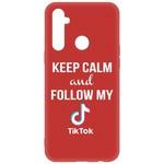 Чехол-накладка Krutoff Silicone Case TikTok для Realme 6i красный