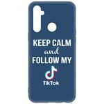 Чехол-накладка Krutoff Silicone Case TikTok для Realme 6i синий