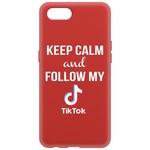 Чехол-накладка Krutoff Silicone Case TikTok для Realme C2 красный