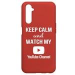 Чехол-накладка Krutoff Silicone Case YouTube для Realme 6 Pro красный